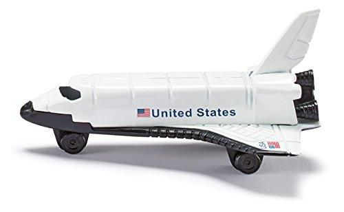 Siku 0817, Space-Shuttle, Metall/Kunststoff, weiß, Räder aus Kunststoff