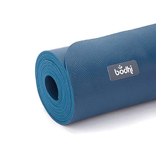 Natur-Kautschuk Yogamatte ECO PRO XL, extra-lang, dunkelblau, extrem rutschfest, 4mm, 100% Naturmaterial, Ökotex 100, Naturkautschuk ohne Zusätze, 200 x 60 cm