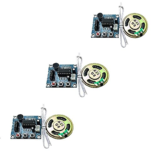 Ximimark 3Pcs ISD1820 Sound Voice Recording Playback Module Sound Recorder Board With Microphone Audio Loudspeaker