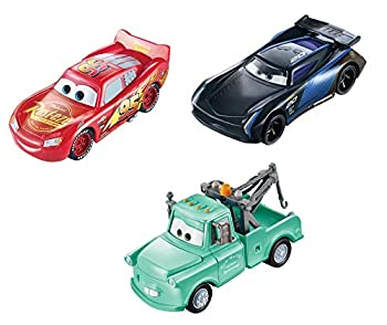 Disney Pixar Cars Color Changers Lightning McQueen Mater & Jackson Storm 3-Pack Gift for Kids Age 3 Years and Older