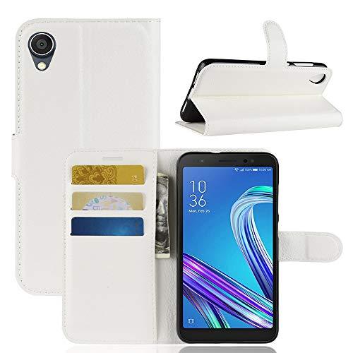 Handytaschen Litchi Texture Horizontal Flip Leder Tasche for Asus ZenFone Live (L1) ZA550KL, mit Geldbörse & Kartenhalter (Schwarz) (Farbe : Weiß)