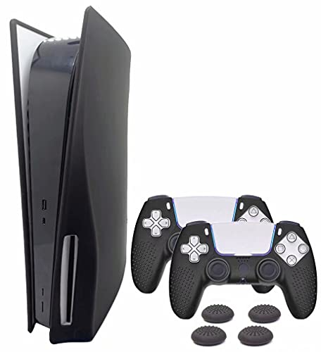KJ-KayJI PS5 Silicone Skin Cover, Dustproof Anti-Scratch Anti-Fall Waterproof Protector Case,Only Applicable to Sony Playstation 5 Ultra HD/Disk Edition Console