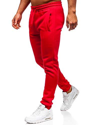 BOLF Herren Sporthose Trainingshose Jogginghose Fitnesshose Freizeithose Joggerhose Sport Style J.Style CK01 Rot XL [6F6]