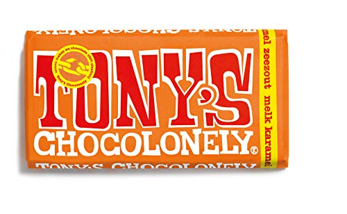 Tony's Chocolonely Chocolate con leche con caramelo y sal marina 180 g