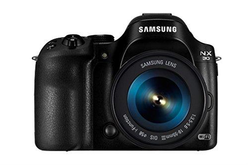 Samsung NX NX30 + OIS III 18-55mm Brückenkamera 20,3 MP CMOS 5472 x 3648 Pixel Schwarz - Digitalkameras (20,3 MP, 5472 x 3648 Pixel, CMOS, Full HD, Touchscreen, Schwarz)
