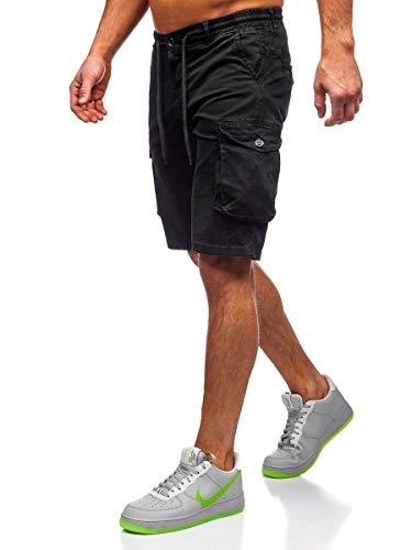 BOLF Hombre Pantalones Cortos Deportivos Short Bermuda Bolsillos Casual 7G7 Motivo