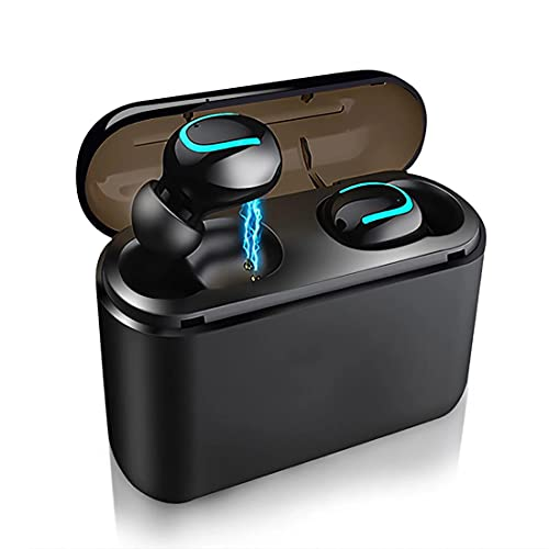 Auriculares Inalámbricos Bluetooth 5.0, In Ear Auriculares con Stereo, Micrófono Claro, IPX5 Impermeable, Estuche de Carga 1500mah
