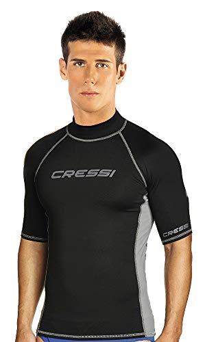 Cressi Rash Guard Man, Hombre, Negro (Negro/Gris) , XL