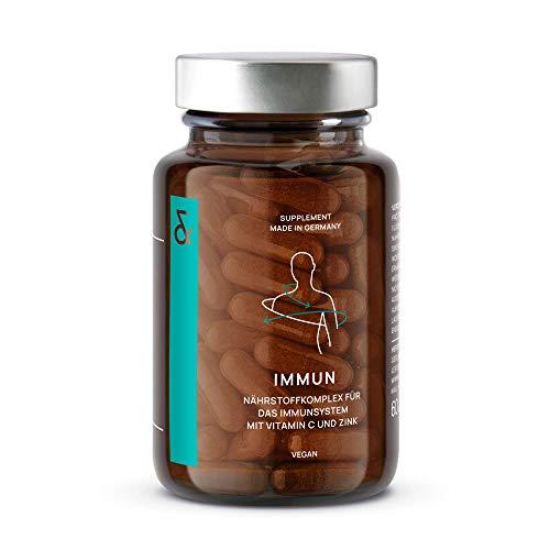 CLAV N°7 IMMUN | Immunsystem + Abwehrkräfte stärken mit Vitamin C + Zink + Acerola + Andrographiskraut + Echinacea-Extrakt + Grapefruitkernextrakt | 60 Kapseln | Vegan