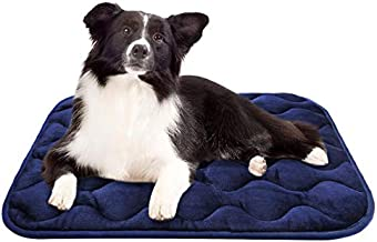 AIPERRO Dog Bed Crate Pad 30/36/42/46 Inch Anti Slip Portable Pet Sleeping Mattress Washable Kennel Mat for Large Medium Small Dogs and Cats,36 Inch