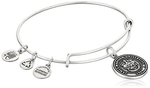 Alex and Ani James Madison University Logo Expandable Rafaelian Silver Bangle Bracelet