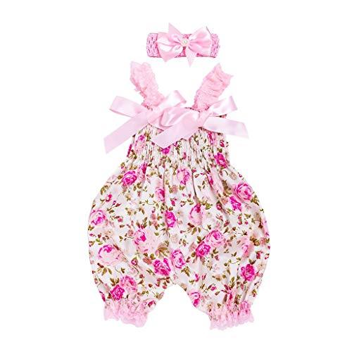 Combinaison Bébé Fille Ensembles Bébé Florale Body Bebe Fille + Bandeau Cadeau de Naissance Lonshell
