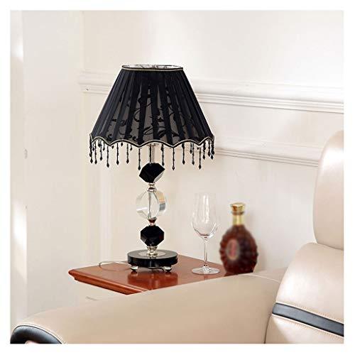 Lámpara de mesa E27 Lámpara de mesa de dormitorio negro, poste de la lámpara irregular, lámpara de mesa de cristal con hilo de neta Lámpara de lápula y colgante Mesa de noche de estilo moderno. Lámpar