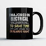 N\A Taza de café de ingeniería eléctrica - me especialicé en ingeniería eléctrica Divertida - Taza de té de café