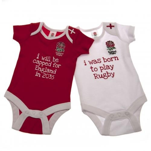 Angleterre Rugby F.u. Lot de 2 Body 3/6 Mois
