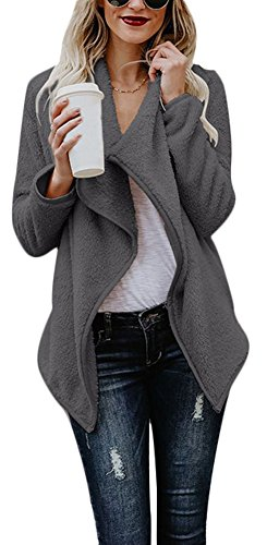 Vamvie Womens Warm Open Front Cardigan Long Sleeve Coat Slim Fit Top