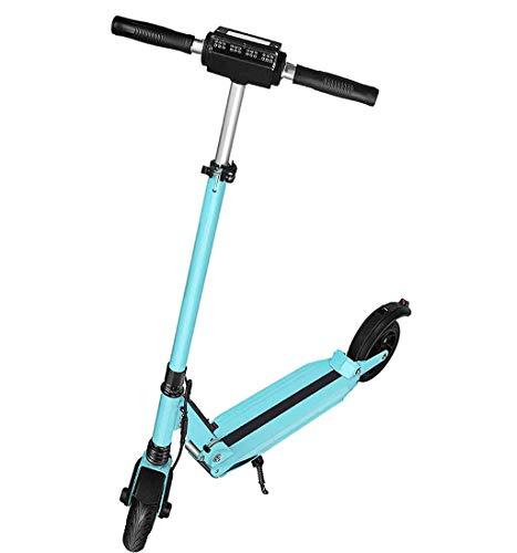 A&DW Smart E-Scooter, Faltbarer Elektroroller 350W High Power, 3 Geschwindigkeitsmodi, Höchstgeschwindigkeit 30 km/h, 8,5-Zoll-Anti-Rutsch-Reifen, mit LED-Licht und LCD-Display,Blue