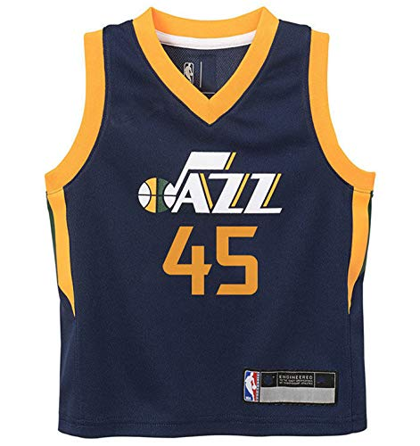 NBA Kids 4-7 Official Name and Number Replica Home Alternate Road Player Jersey (4, Donovan Mitchell Utah Jazz Navy)