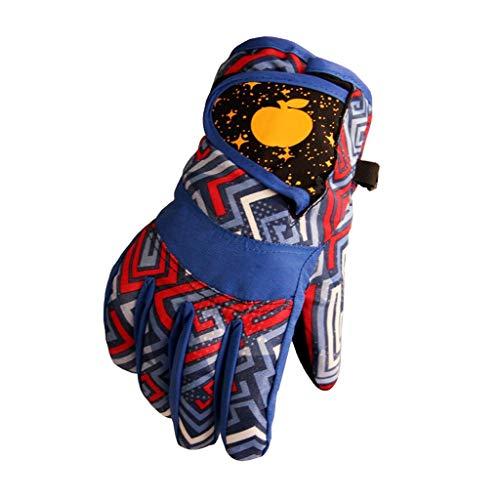 YQRJYB Waterdichte Winter Skiën Snowboarden Handschoenen Warm Wanten Voor Kinderen Full-Finger Handschoenen Voor Sport Skiën Fietsen