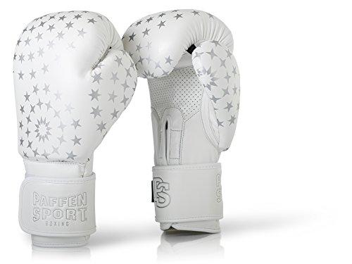 Paffen Sport Lady Frauenboxhandschuhe – Boxhandschuhe für Damen – weiß/Silber – 12UZ