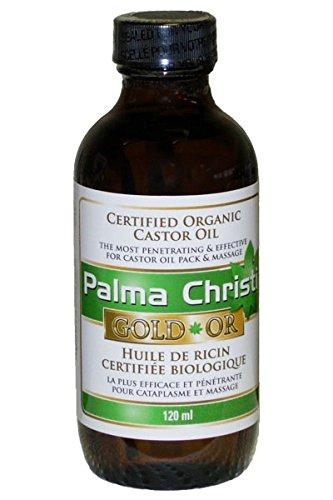 Palma Christi Gold Organic Non Sticky Hexane Free Castor Oil 120ml (4oz) Glass Bottle