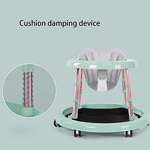 MGLQSB Baby Girello Ammortizzamento del Cuscino Safety Girello per Bambini Girello Bamnino Fascia d\'età: da 6 a 18 Mesi,Blue