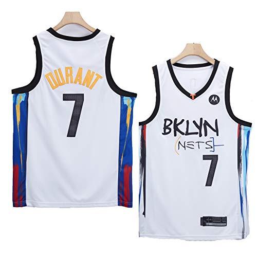Jersey de Baloncesto para Hombres NBA Brooklyn Nets 7# Kevin Durant Cómodo/liviano/Transpirable Malla Bordada Swing Swing Camiseta Retro Sudadera,S