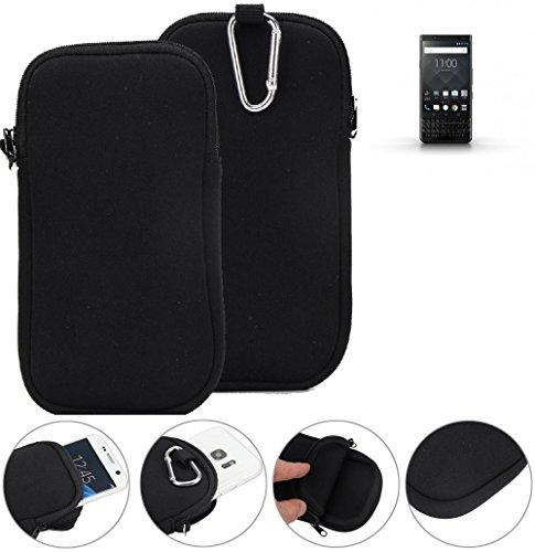 K-S-Trade® Neopren Hülle Für BlackBerry KEYone Black Edition Schutzhülle Neoprenhülle Sleeve Handyhülle Schutz Hülle Handy Gürtel Tasche Case Handytasche Schwarz