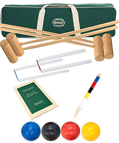 Jaques of London Reigate Croquet set - Regulation Full Size Croquet Set for...