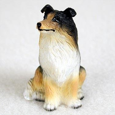 Collie, Tricolor Tiny Ones Dog Figurines (2 1/2in)