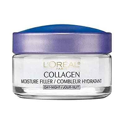 Collagen Face Moisturizer by L?Oreal Paris Skin Care, Day and Night Cream, Anti-Aging Face Cream to Smooth Wrinkles, Non-Greasy