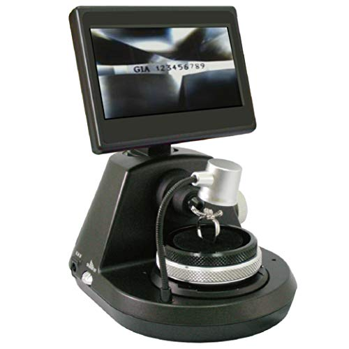 Qzzy, Digital Diamond Girdle Inspection, Microscope, Magnifying Tool,Magnification, LCD Display, LED Adjustable Light Source