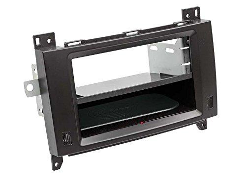 Acv Adaptateur de façade 2-DIN Inbay® pour Mercedes Viano/Vito 06> Noir