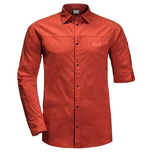 Jack Wolfskin Kenovo Camisa de manga larga para hombre, Unzutreffend, Evergreen, Kenovo - Camisa de manga larga, Hombre, color Mexican Pepper, tamaño medium