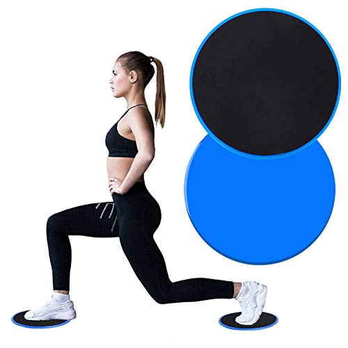 THREEMAO Core Exercise SlidersFitness Equipment Idea for Abdominal Full Body WorkoutDual Sided Use on Carpet or Hardwood Floors