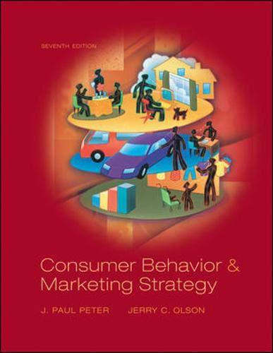 Consumer Behavior: and Marketing Strategy (McGraw-Hill/Irwin Series in Marketing)