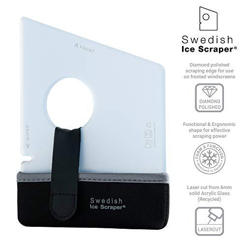Schwedischer Eiskratzer ICE05, 6 mm, Eisblau mit Neoprenhalter