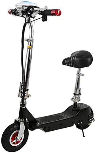 Bicicleta eléctrica de nieve, Scooter eléctrico plegable for adultos, Kick Scooter eléctrico con 300W de motor sin escobillas, 16 KM alcance máximo, 8' neumáticos sólidos, carga máxima de 85 Kg Baterí