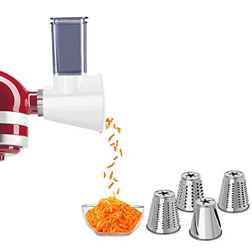 Slicer Shredder Attachment for KitchenAid Stand Mixers Cheese Shredder Vegetable Chopper Grater Accessories for All Household KitchenAid Salad Maker by Kitchood