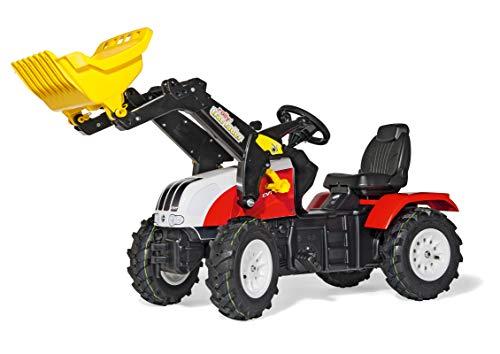 Rolly Toys rollyFarmtrac Steyr CVT 6240 (für Kinder von 3 bis 8 Jahren, Sitz verstellbar, Luftbereifung) 046331