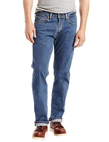 Levi's Men's 505 Regular Fit Jeans, Stonewash - Stretch, 33W x 29L