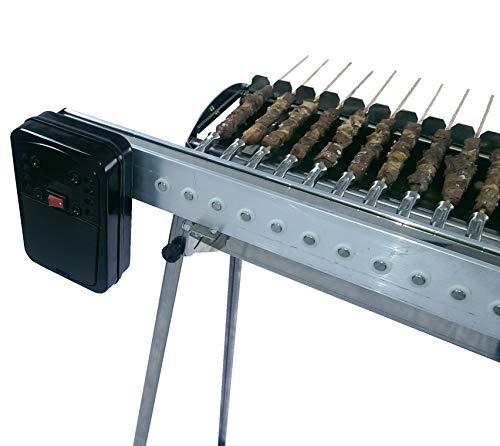Tecnoroast Fornacella Inox a Carbone + Kit Automatico con Guida dentata Omaggio - da 40 Pezzi - Alimentazione a Batteria