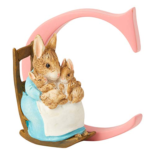 Beatrix Potter Alphabet Letter C Mrs Rabbit with Bunnies Figurine
