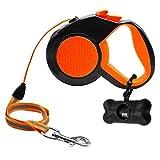 犬 リード 小中型犬3月5日/ 8M用の反射犬ハーネス牽引ロープ犬猫自動格納式ウォーキングペットリーシュリード 犬散歩用リード (色 : Orange, Size : 8M)