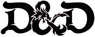 Dungeons and Dragons Black Decal Vinyl Sticker Cars Trucks Vans Walls Laptop  Black  7.5 x 3 in LLI668