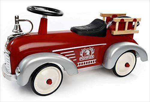 Baghera Porteur Camion de Pompier Multidirectionnel, Jouet pour Enfant 1 an et Plus, Speedster Rouge en Métal Antichocs. Plébiscité par de Nombreux Parents
