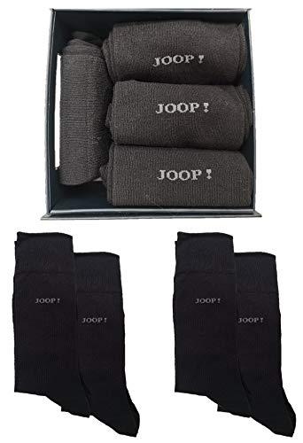 Joop! Herren Soft Cotton Socken 4er Pack Black mit Geschenkverpackung, Größen Leg:47/49