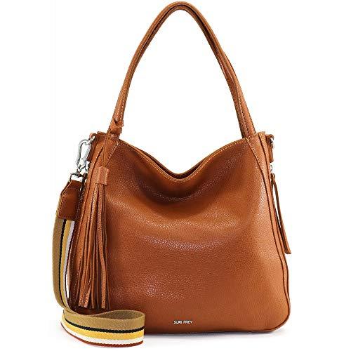 SURI FREY Bolsa de la compra mediana Lory 12823-700, color marrón