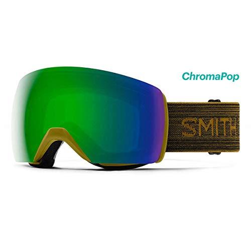 Smith Optics Skyline XL Ski- Snowboardbrille Mystic Green - ChromaPOP Green Mirror Sun