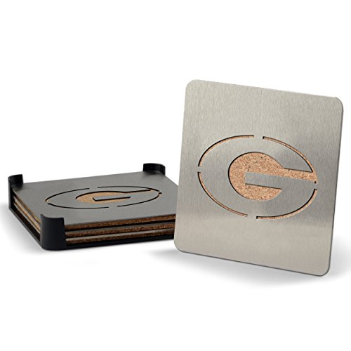 NCAA Georgia Bulldogs Boaster Stainless Steel Coaster Set of 4